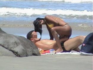 Gal, that Sexo real na praia multi