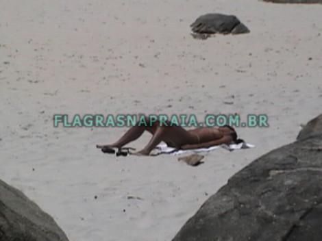 flagras praia sexo morena